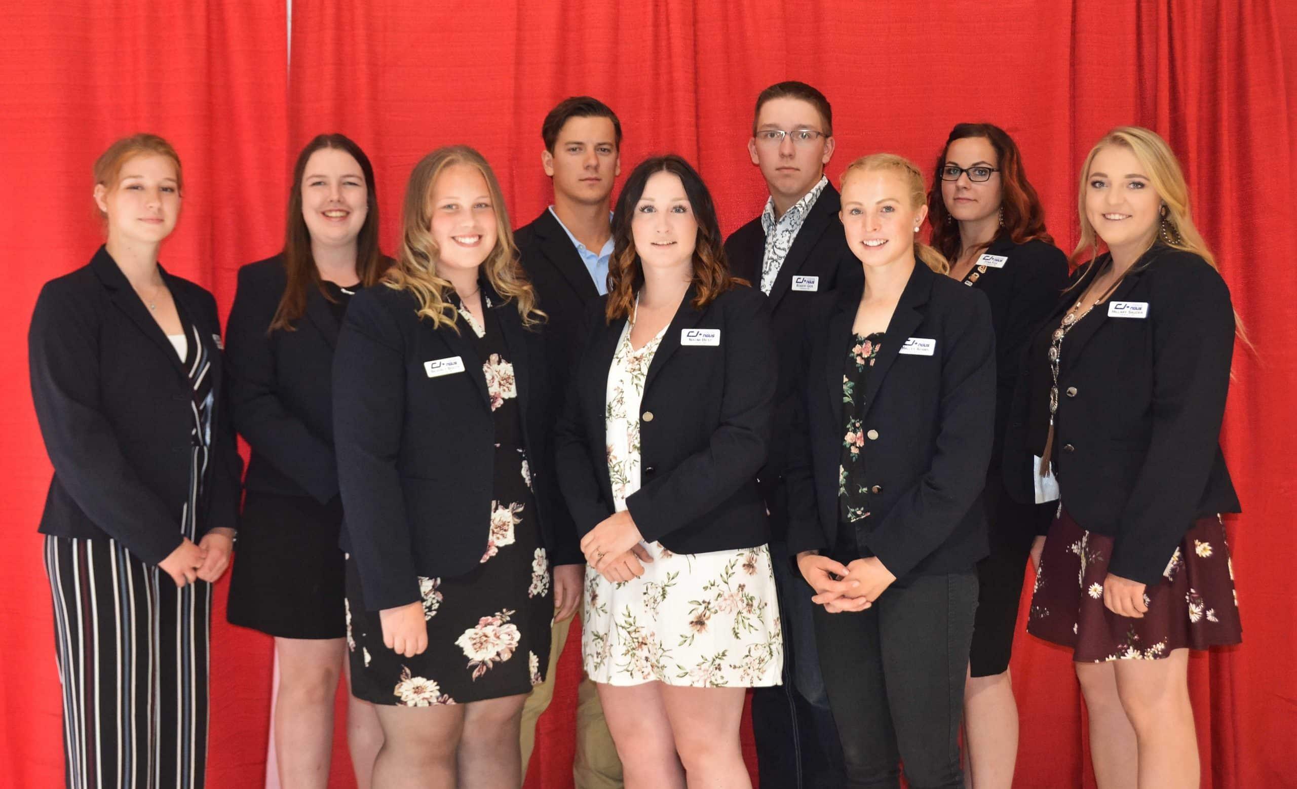 CJA 2019 Board of Directors, left to right: Sarah MacDonald, Charlene Elliott, Beverly Booth, Mark Sample, Naomi Best, Robert Geis, Halley Adams, Tyra Fox, Hillary Sauder