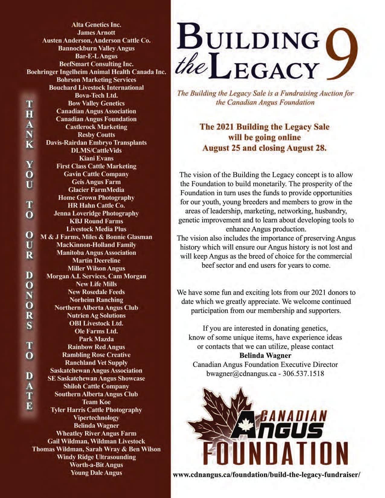 Legacy Sale SI 21