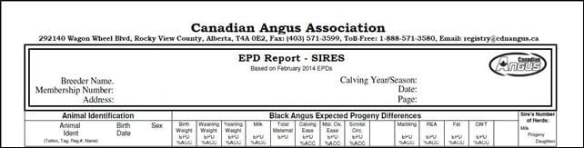 Sire report
